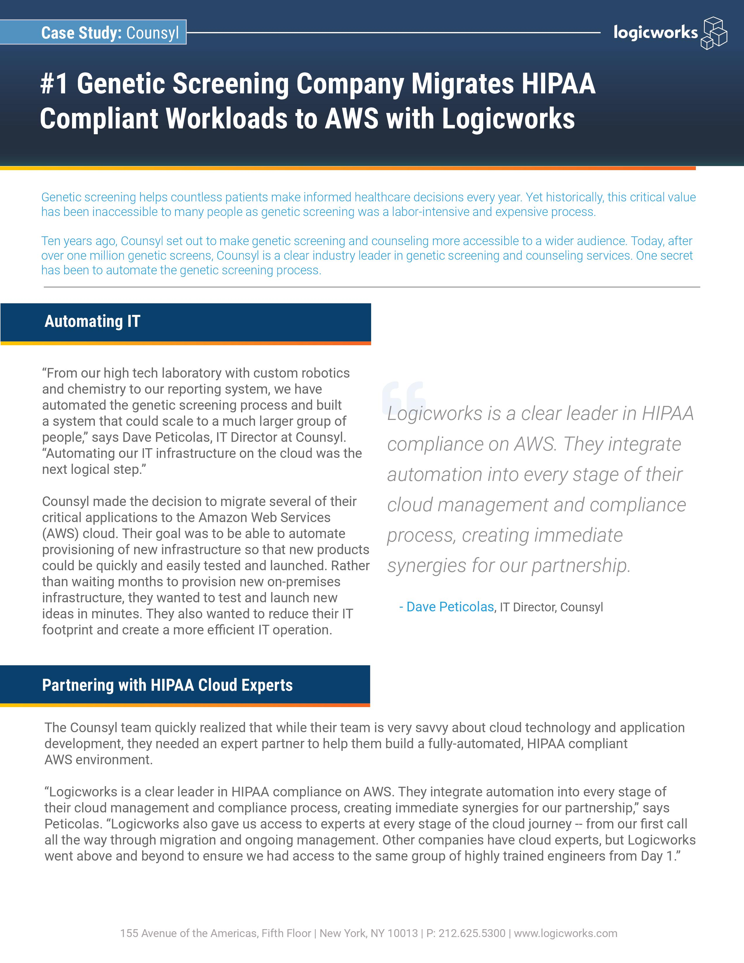HIPAA-Compliant Workload Migration to AWS Cloud